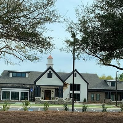 Main entrance and landscaping at Westminster Memory Care in Aiken, South Carolina