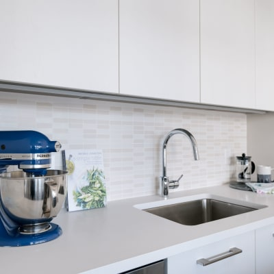 Beautiful, clean kitchen at Residences at 8 East Huron in Chicago, Illinois