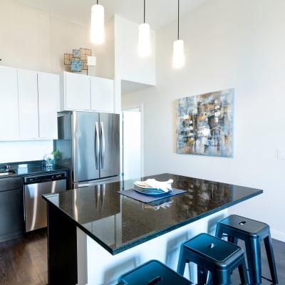 Stunning modern kitchen at The Buckler in Milwaukee, Wisconsin