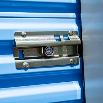 Storage unit lock at Battle Ground Mini Storage in Battle Ground, Washington