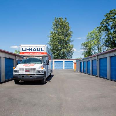 Drive up storage units at Battle Ground Mini Storage in Battle Ground, Washington