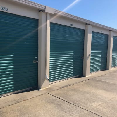 Outdoor storage at Storage Star Folsom in Folsom, California