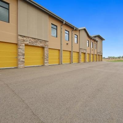 Outdoor ground floor units at Storage Star Pond Springs in Austin, Texas