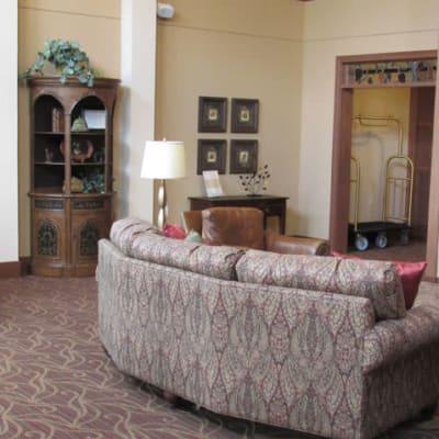 Enhanced care lounge at York Gardens in Edina, Minnesota
