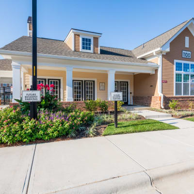 Entrance to the lobby and leasing area at The Reserve at White Oak in Garner, North Carolina