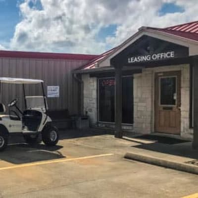 The leasing office at Storage Star Tomball in Tomball, Texas