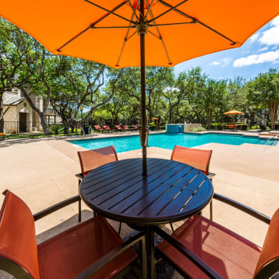 Patio chairs at a property owned by CWS Apartment Homes in Austin, Texas