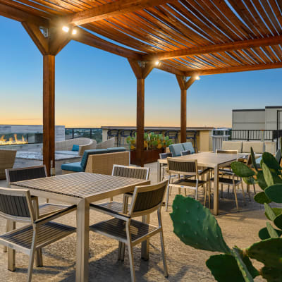Outdoor lounge at a property owned by CWS Apartment Homes in Austin, Texas