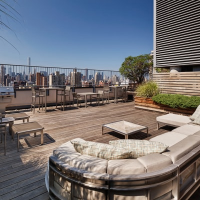 Awesome rooftop lounge area with nice view at The Ventura in New York, New York