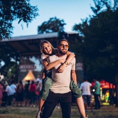 Residents at a concert near Bellrock Summer Street in Houston, Texas