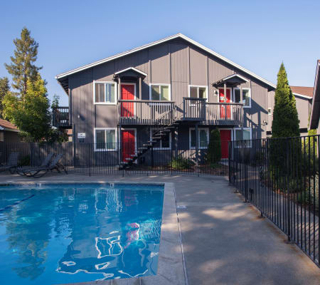 Swimming pool at Spring Lake Apartment Homes in Santa Rosa, California
