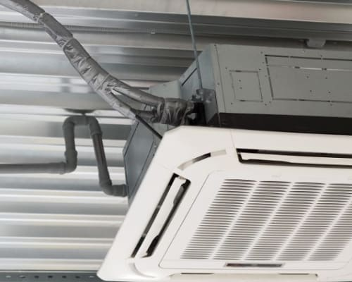 An air-conditioning unit at an A+ Storage location