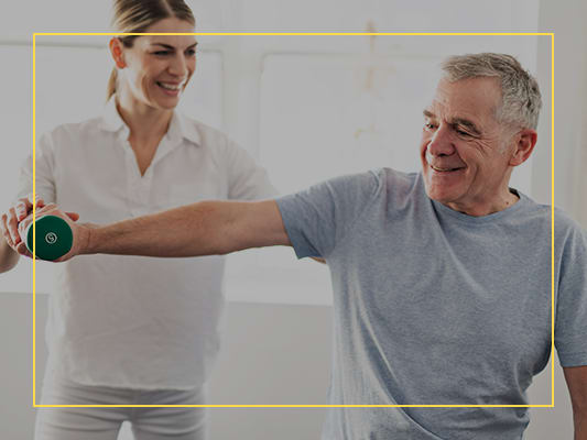 Encouraging physical fitness with our Fit Moments program at CERTUS Premier Memory Care Living in Orlando, Florida.