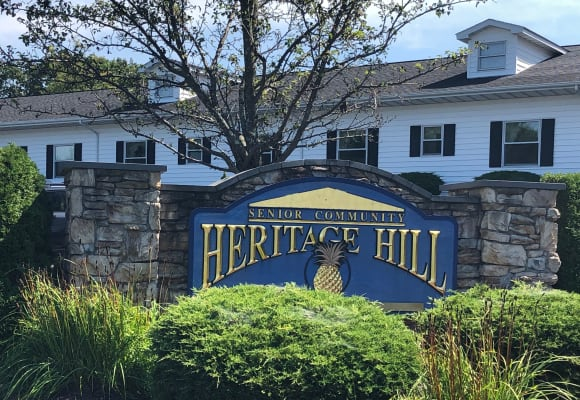 Entrance sign at Heritage Hill Senior Community in Weatherly, Pennsylvania