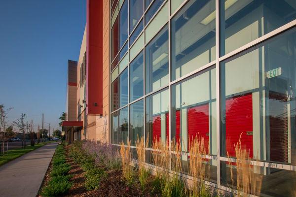 Self storage building exterior in La Mesa