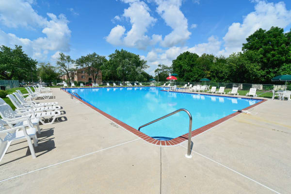 Beautiful pool at The Fairways Apartment Homes in Blackwood