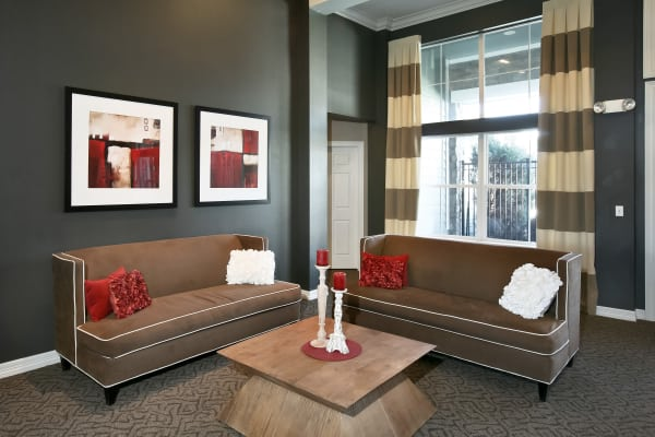 Well appointed living room at Ascend at Red Rocks in Lakewood