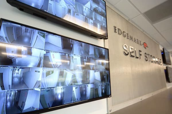 Edgemark Self Storage offers 24-hour security monitoring