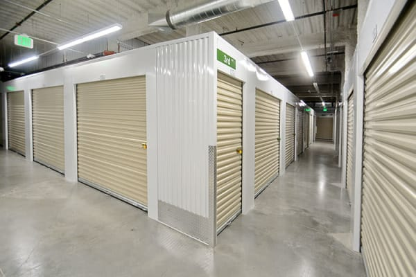 Large indoor units at Edgemark Self Storage