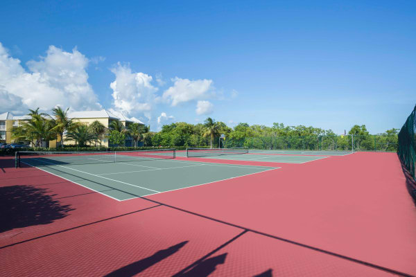 Tennis courts at Ocean Walk Apartments in Key West