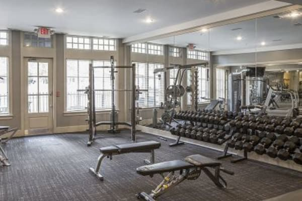 Fitness center at Easton Commons in Columbus, OH
