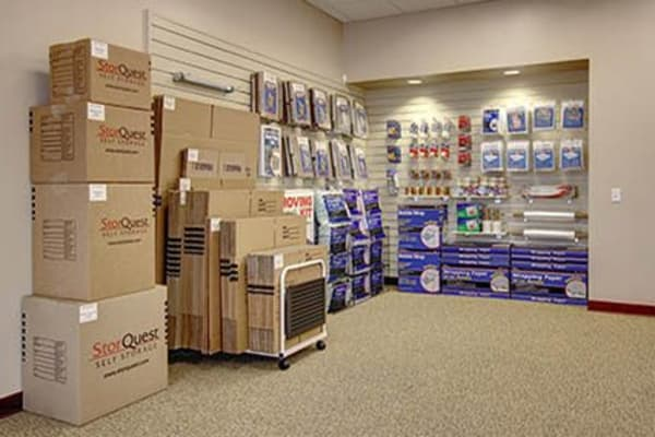 Packing supplies for sale at StorQuest Self Storage