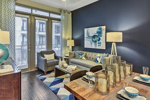 living room at Anthem Cityline in Richardson