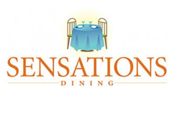 Sensations dining graphic for Discovery Senior Living in Bonita Springs, Florida