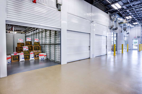 Open indoor unit at Metro Self Storage in Blaine, Minnesota