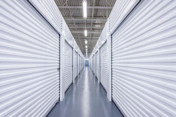 Indoor units hallway at Metro Self Storage in Blaine, Minnesota