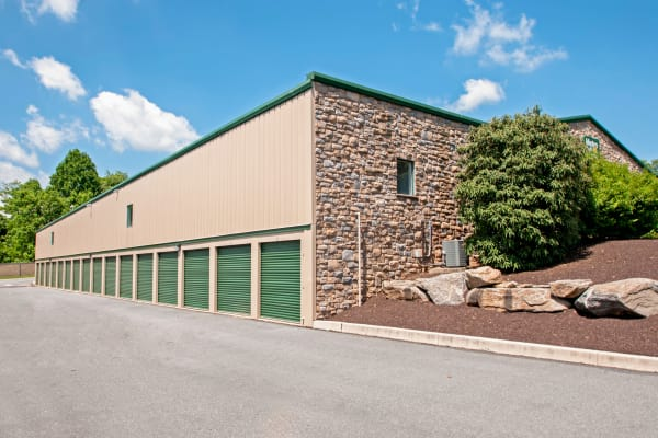 Exterior drive up units at Metro Self Storage in Newtown Square, Pennsylvania