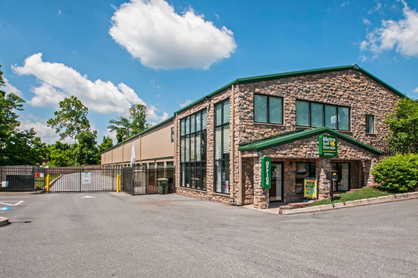 Leasing office exterior view at Metro Self Storage in Newtown Square, Pennsylvania