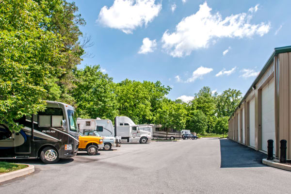 RV storage at Metro Self Storage in Newtown Square, Pennsylvania