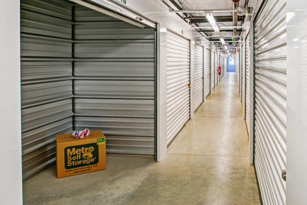 Indoor units hallway at Metro Self Storage in Newtown Square, Pennsylvania