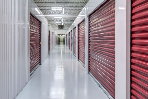 Indoor units hallway at Metro Self Storage in Orono, Minnesota