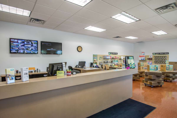 Office reception at Metro Self Storage in Orono, Minnesota