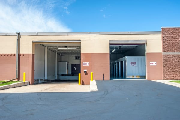 Loading dock exterior view at Metro Self Storage in Orono, Minnesota