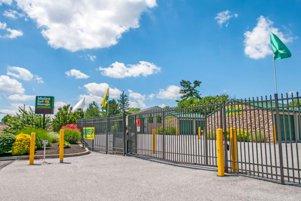 Access gate at Metro Self Storage in Sharon Hill, Pennsylvania