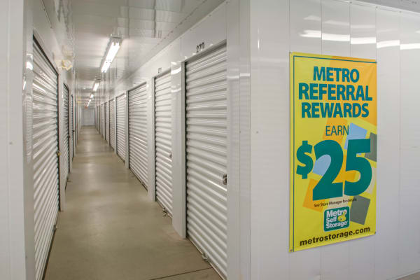 Indoor units hallway at Metro Self Storage in Sharon Hill, Pennsylvania