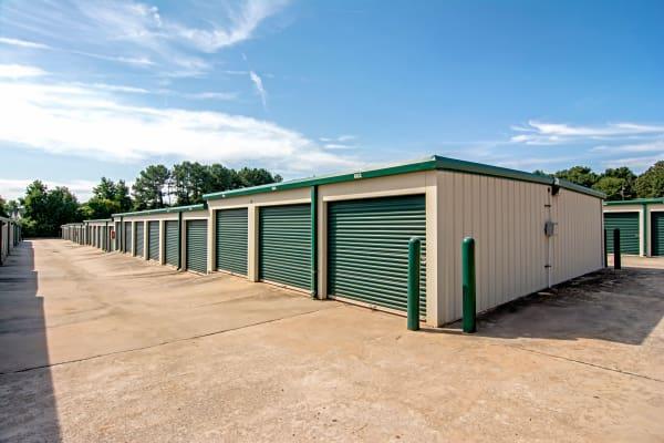 Exterior drive up units at Metro Self Storage in Mableton, Georgia