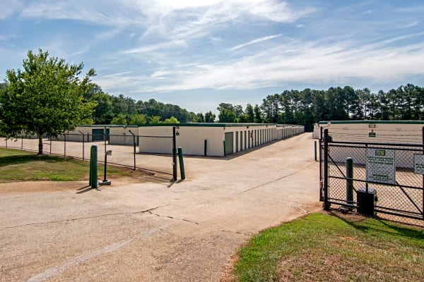 Access gate with security panel at Metro Self Storage in Mableton, Georgia