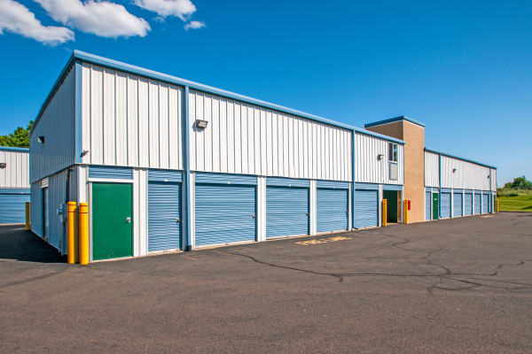 Exterior drive up units at Metro Self Storage in Newtown, Pennsylvania