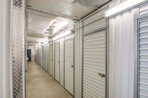 Indoors units hallway at Metro Self Storage in Newtown, Pennsylvania