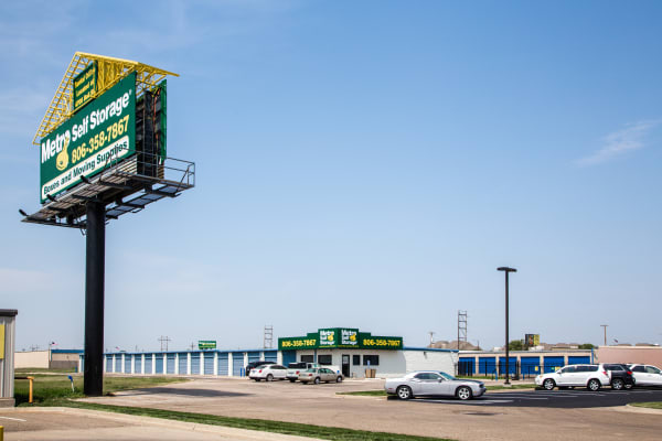 Front entrance at Metro Self Storage in Amarillo, TX