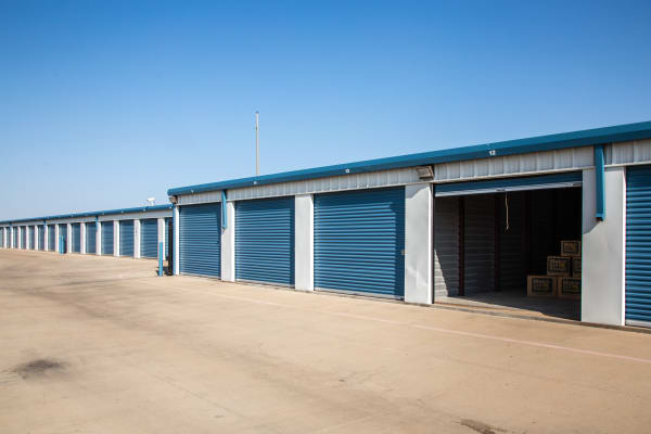 Open outdoors unit at Metro Self Storage in Amarillo, Texas