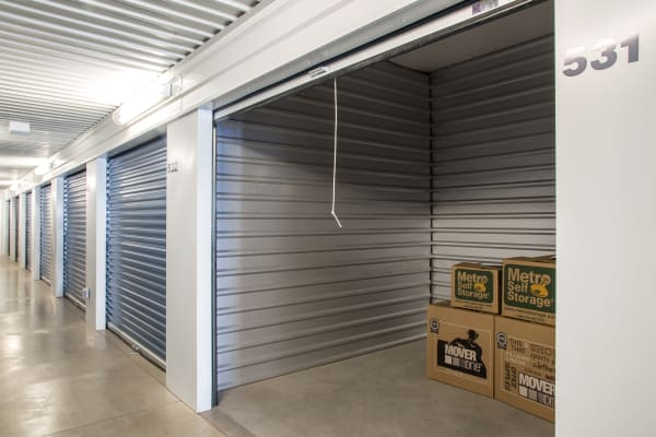Open indoors unit at Metro Self Storage in Amarillo, Texas