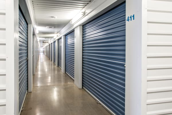 Hallway through Indoors units at Metro Self Storage in Amarillo, Texas