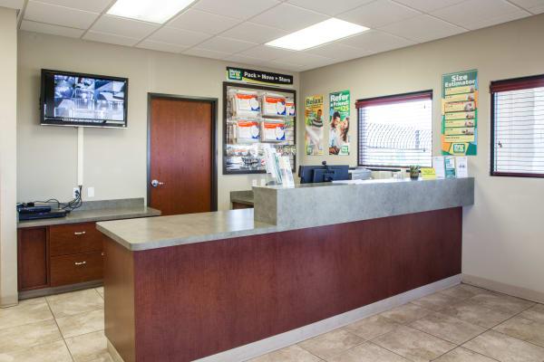 Office interior at Metro Self Storage in Amarillo, Texas