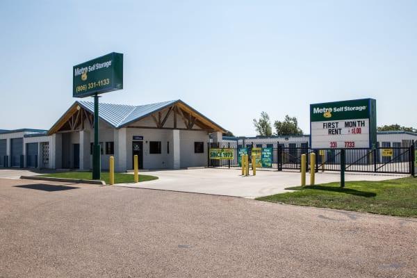 Entrance at Metro Self Storage in Amarillo, Texas