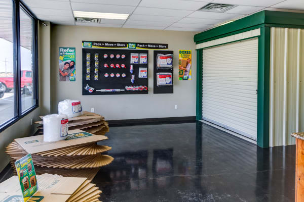 Packaging supplies at Metro Self Storage in Amarillo, Texas